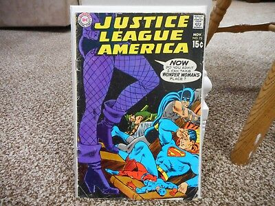 Justice League of America 75 DC 1969 1st Black Canary Dinah Lance joins team g