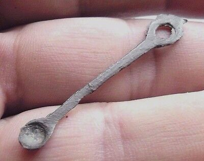 Ancient Bronze Casting Stick (Kopoushka)17-18th century for Cleaning Ears.