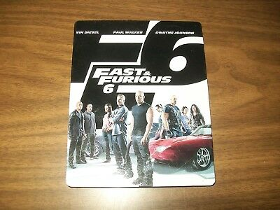 Fast & Furious 6 Bluray & Dvd + Digital Copy Steelbook Extended Edition