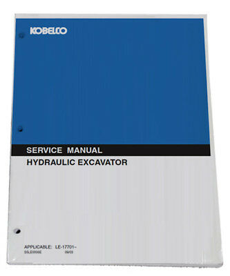 KOBELCO SK115DZLCIV SK120LCIV Excavator Service Manual Repair Technical Book