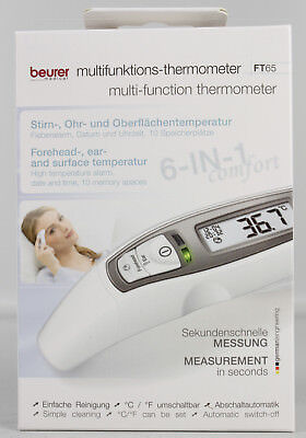 Beurer FT 65 - Thermometer Fieberthermometer 6in1 Ohr- Stirnthermometer L3-FT65