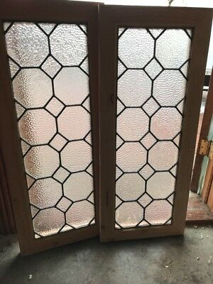 Sg 2107 Two Available Price Separate Antique Textured Glass Windows