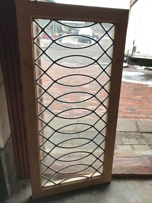 Sg 2109 Antique Leaded Glass Transom Window 24 X 40. 25