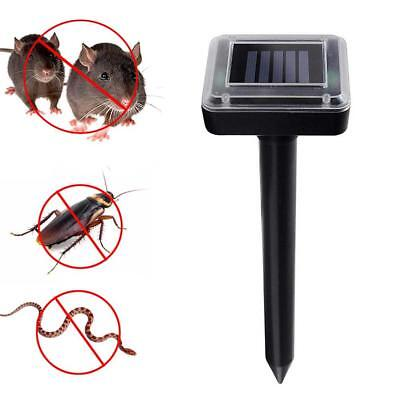 Solar Power Animal Pest Control Ultrasonic Mouse Mole Rodent Repeller Garden