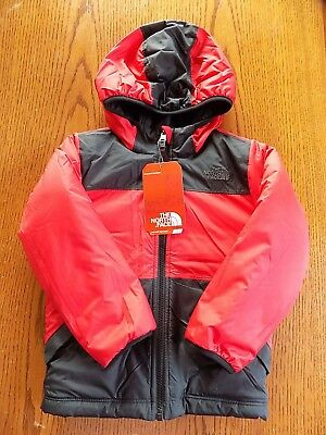 Nwt Toddler Boy's Reversible The North Face Jacket  Red/black Size 3T  $80