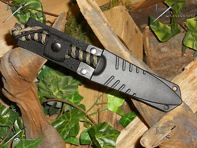 Harpoon/Spear tip/Knife/Bowie/Blade/Full tang/Survival/Combat/Hunting/P550 wrap