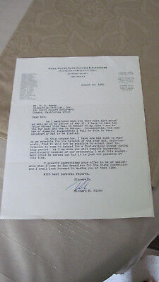 Original Richard Nixon Signed Letter Aug. 20, 1965 Nixon Firm Lh