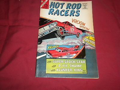 Hot Rod Racers #5 charlton 1965 silver age 6.5/fn+ comic!!!!