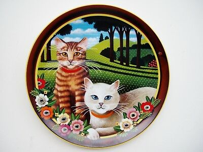 Uncle Tad's Cats Plate Anna Perenna Peaches and Cream Thaddeus Krumeich