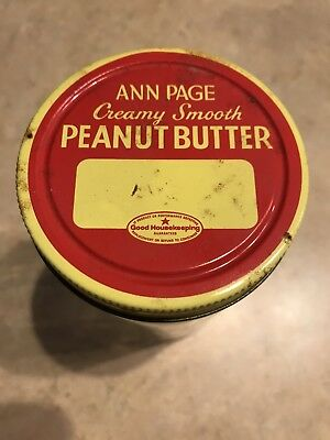 Vintage Ann Page Peanut Butter Jar With Lid