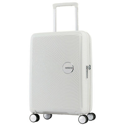 American Tourister - Curio 55cm Small Expandable Spinner - White