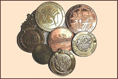 A Group of Tourist and Souvenir Dollar/Coins (7 Items)