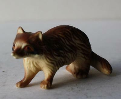 Raccoon Miniature Figurine Hong Kong Hard Plastic-Great Raccoon Figure-Adorable
