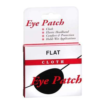 Concave Eye Patch Cloth With Elastic Headband, 1 ea