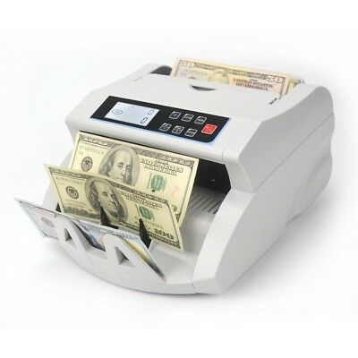Money Bill Cash Counter Currency Bank Counting Machine UV MG IR DD Counterfeit