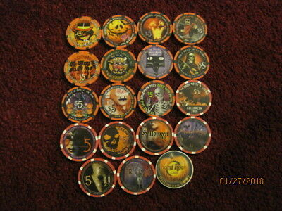 Complete Hard Rock Casino Halloween Collection 1996-2012 Uncirculated