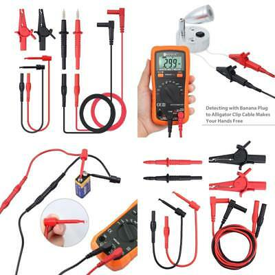Multimeter Test Lead Set Cable Pen Clips Electronic Test Lead Accessory Kit New