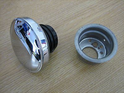 Weld In Gas Tank Bung  & VENTED Screw In Harley Davidson type Gas Cap Bobber