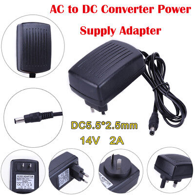 5.5*2.5 mm AC to DC 14V 2A Universal Power Supply Adapter Converter for GPS TV