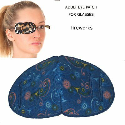 Eye Patch for Glasses, FIREWORKS Regular, Soft and Washable Fabric