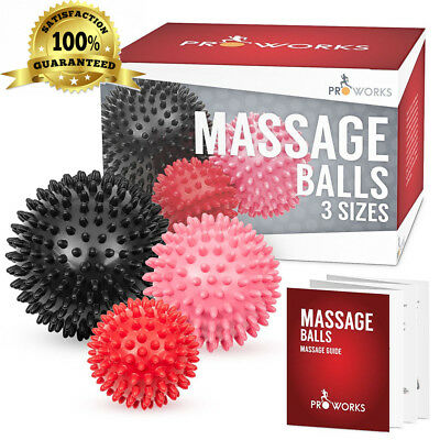 Proworks Spiky Massage Balls | Deep Tissue Trigger Point Roller Set for...