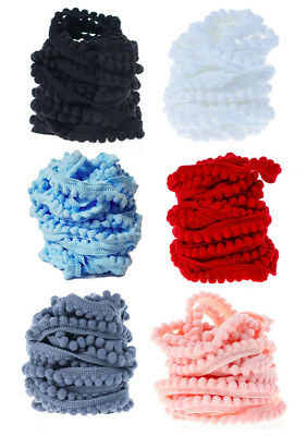 10 Yards Mini Pom Pom Bobble Trim Quality Pompom Trimming Tiny Fringe DIY Crafts