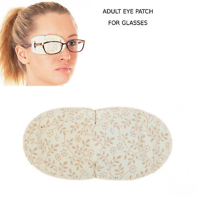 Medical Eye Patch For Glasses, PRETTY LITTLE FLOWERS Regular, Soft and Washable