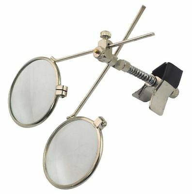 Eye Glass Loupe Clip On Spectacle Magnifier 25mm Dia Lens 16.5x Magnification