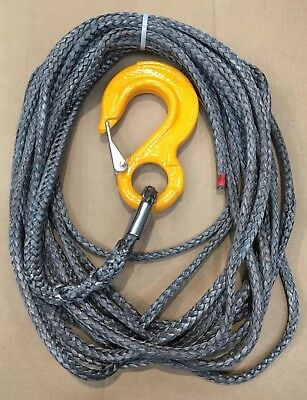 9mm X 11m Grey Dynaline Marlow Synthetic Rope 8 ton SWL Winch Cable