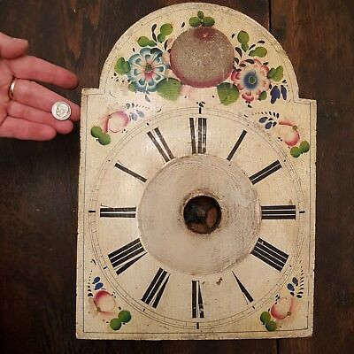 1800s Black Forest Cookoo Cuckoo Clock Old Hand Painted Wood Face Weights Hands2