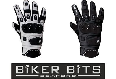 RICHA ROCK Cheap Leather Sports Motorbike Short Racing Gloves Vented Fingers