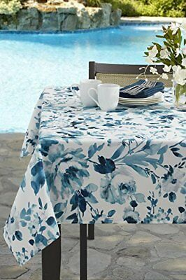Tablecloth For Garden Party Stain Proof Indoor/Outdoor Spillproof 100%  Polyester