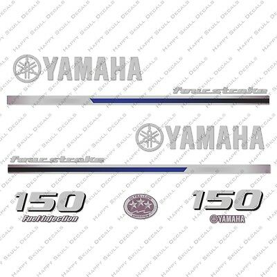 Yamaha 150HP Four Stroke Outboard Engine Decals Sticker Set reproduction 2013