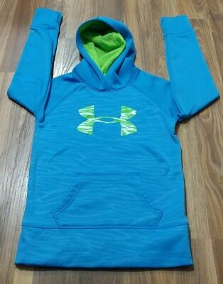 (A) Under Armour Storm Youth Medium Hoodie Blue/yellow Pullover