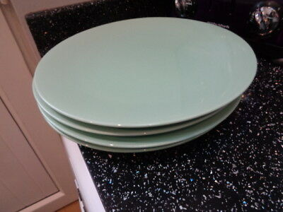 Marks And Spencer Andante Green Dinner Plates X 4