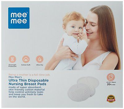 Mee Mee Ultra Thin Super Absorbent Disposable Nursing Brest Pads (48 Pads)