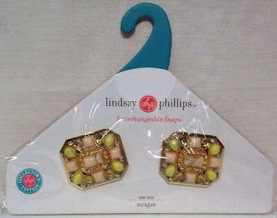 Lindsay Phillips Snaps Shoe Jewelry Meagan Goldtone Multicolored Stones