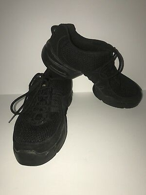 Dance Sneakers SIZE 8, Split Sole, Black laces, brand Bloch Preowned good cond