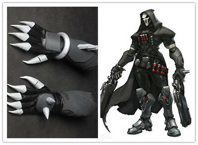 OW Overwatch Reaper Cosplay Costume Reaper Gloves leather Hand Armor New