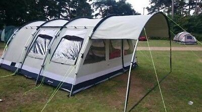 Outwell Bear Lake 6 Man Polly-Cotton Tent Sun Canopy u0026 Side Extension. & OUTWELL BEAR Lake 6 Polycotton Tent side extension and ...