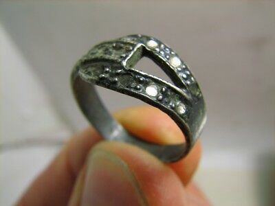 NICE ! VINTAGE STERLING SILVER RING with STONE !# 125