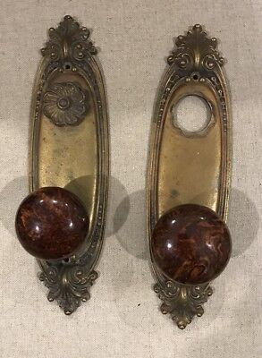 Antique SARGENT & CO. Entry Door  Knob Brass VICTORIAN- SET OF TWO Rare!!!!!!!
