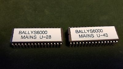 Bally S6000 Mains. U-28 and U-43 Mains With Printer support.