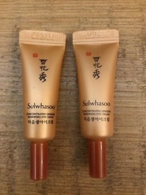 Sulwhasoo Concentrated Ginseng Renewing Eye Cream Tube Type 3ml x 2pcs US Seller