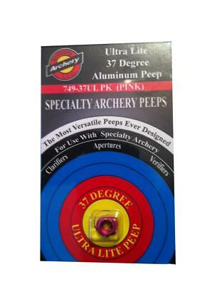 "Specialty Archery 1/8"" 37 Degree Ultra Lite Peep Housing PINK"