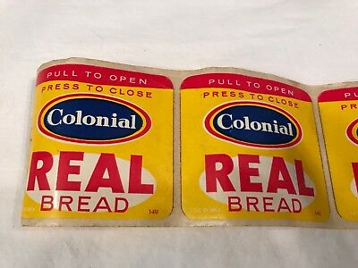 Vintage Colonial Bread Sticker Roll Of Stickers Real Bread (J6-2)