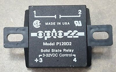 OPTO 22 SOLID STATE RELAY P120D2 3-32Vdc CONTROL