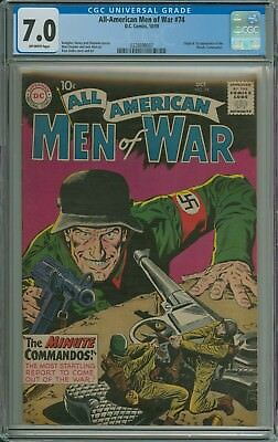 ALL AMERICAN MEN OF WAR #74 CGC 7.0 OFF-WHITE pages