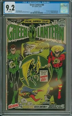 GREEN LANTERN #88 CGC 9.2 WHITE PAGES Neal Adams cvr & unpublished G.A. GL story