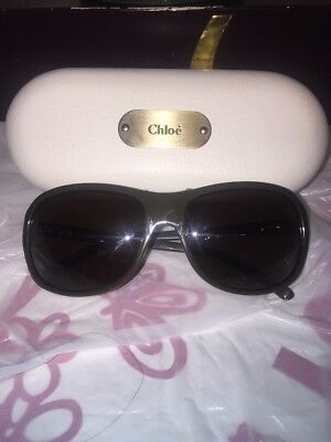 b813444c7d0 CHLOE Black Gradient Oval Sunglasses Made in France With Case